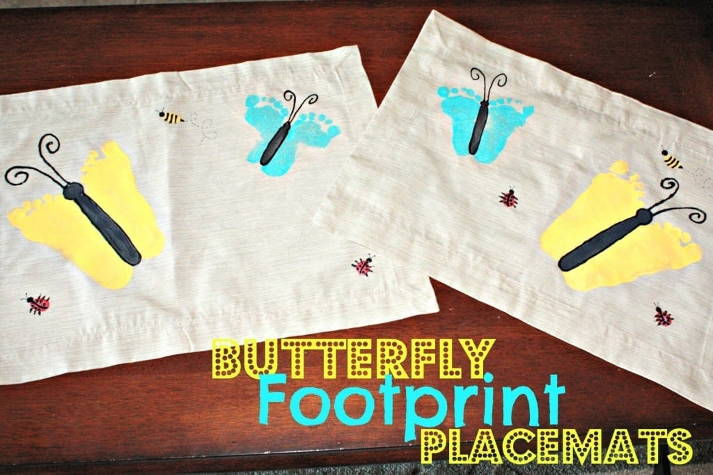 Buttefly Footprint Placemats