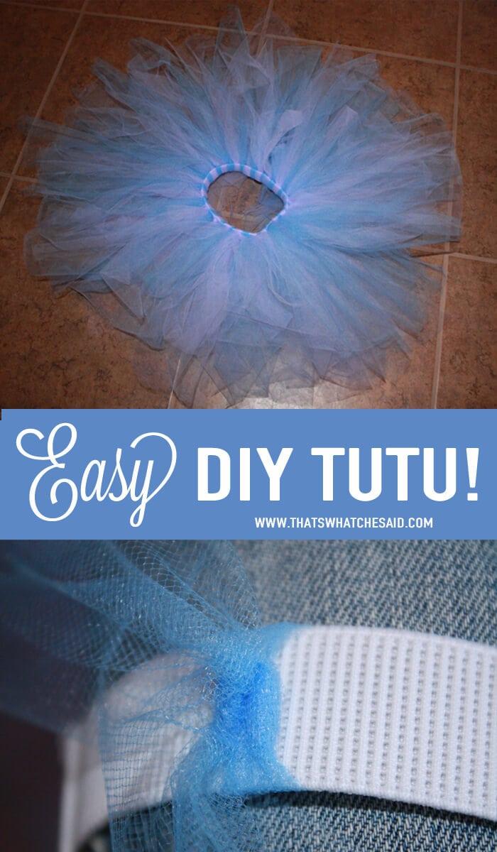 Easy DIY Toddler Tutu Tutorial