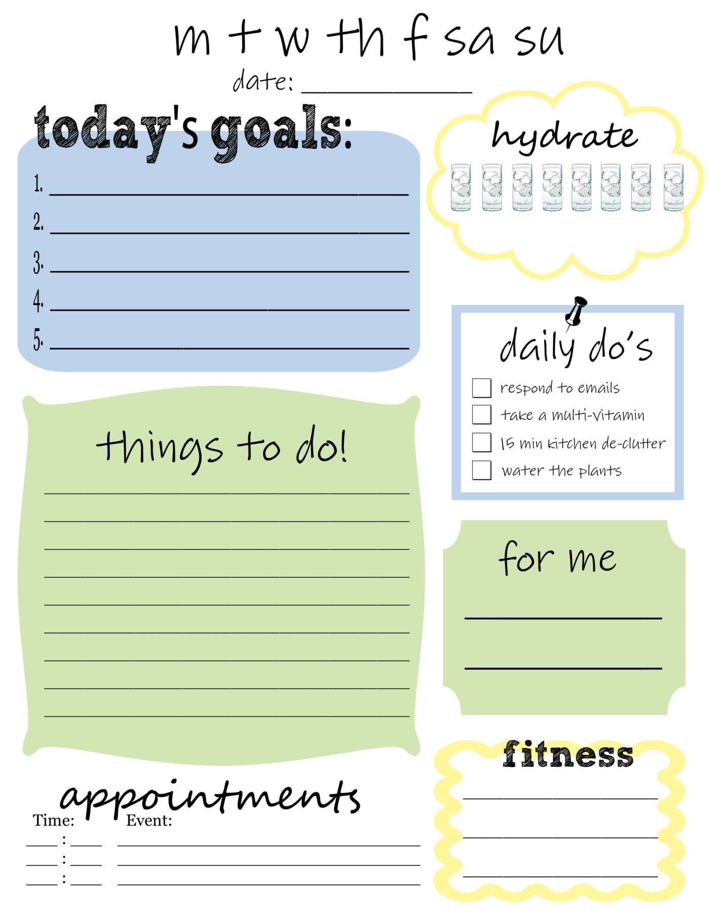 graphic about Daily to Do List Printable identified as Free of charge Printable Day by day Toward Do Checklist - Thats What Che Claimed