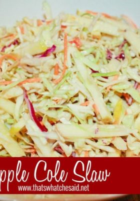 Apple Cole Slaw at thatswhatchesaid.net