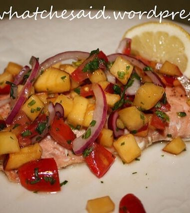 Salmon Recipe with Peach Salsa and Honey Glaze