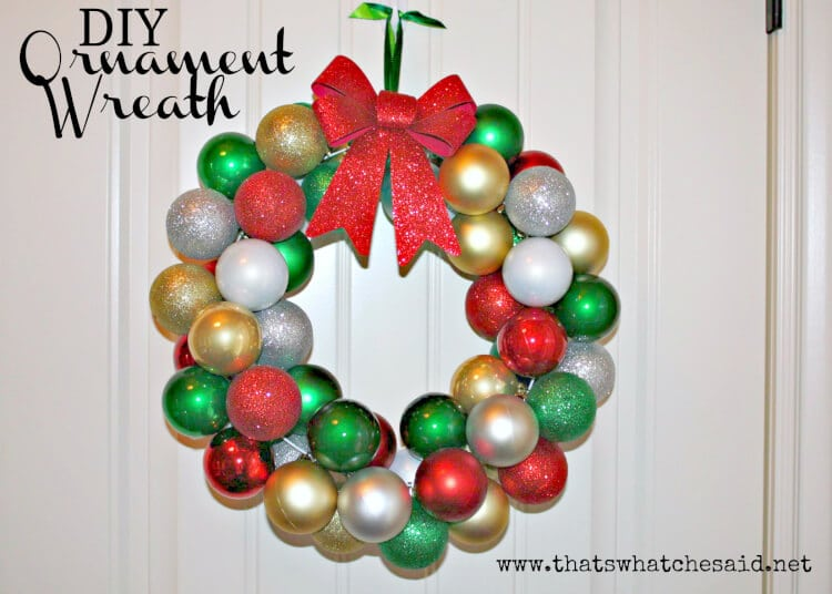 DIY Christmas Ornament Wreath - That's What {Che} Said...