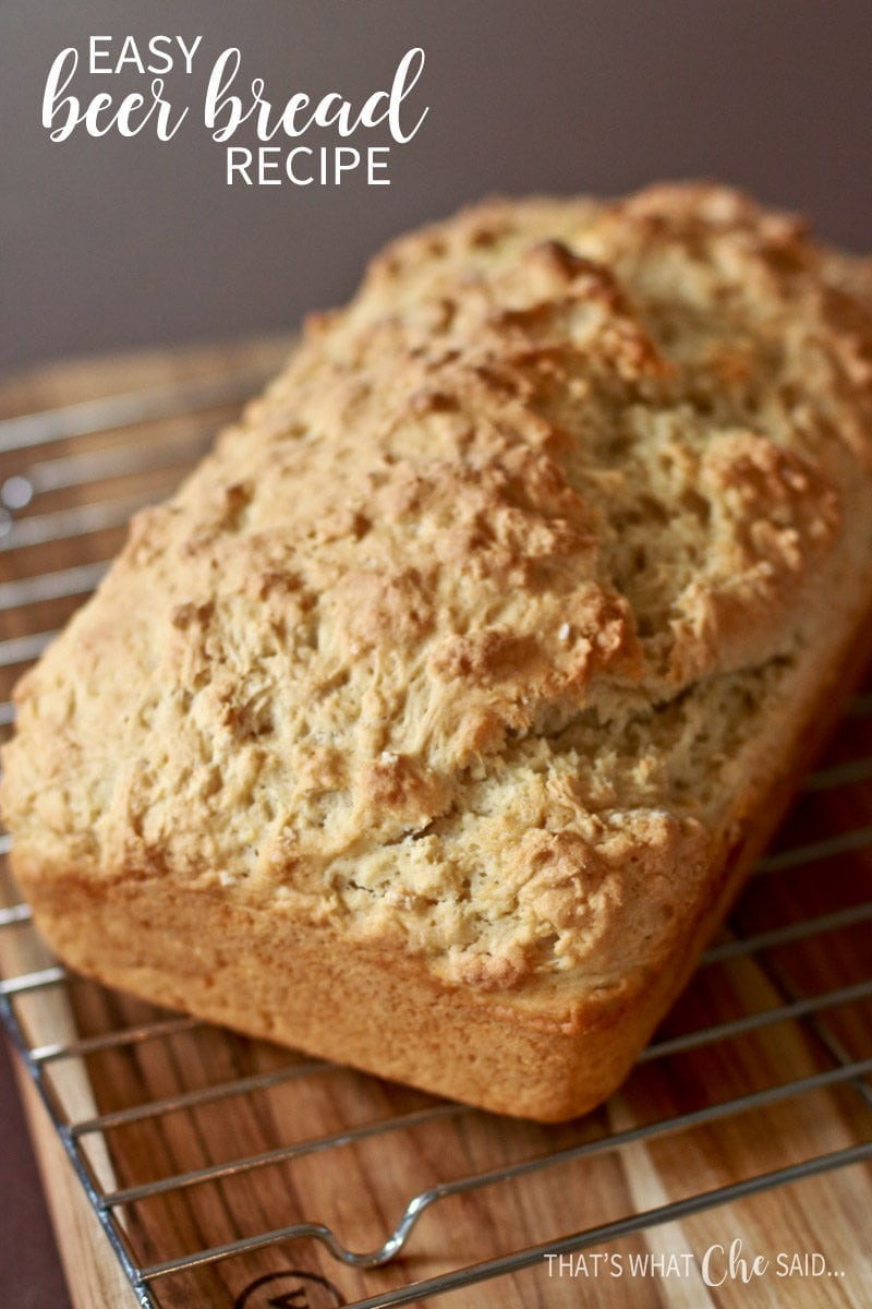Easy Beer Bread Recipe. 3 ingredients and so delicious!