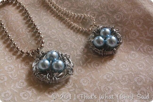 DIY Nest Egg Pendant Necklaces