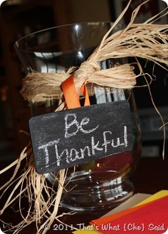 Be Thankful Jar