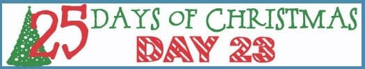 25 Days of Christmas Banner day 23