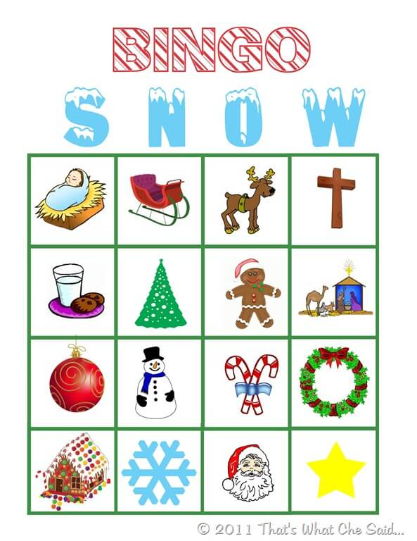 photograph relating to Christmas Bingo Free Printable named Xmas Bingo - Thats What Che Mentioned