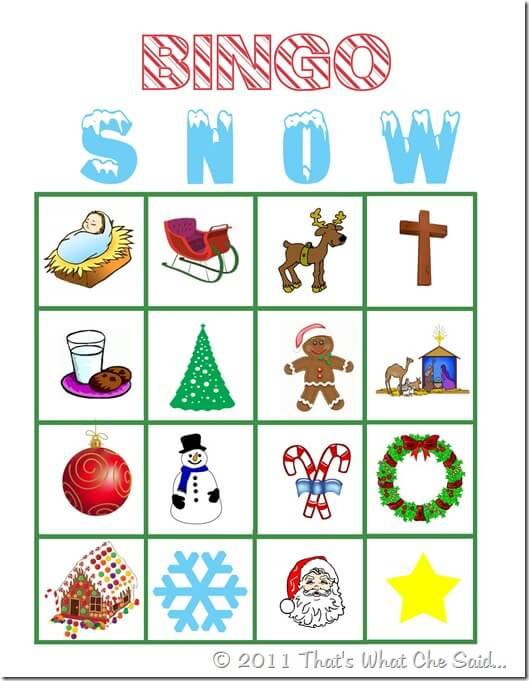 christmas bingo game free printable - Printable Christmas Bingo