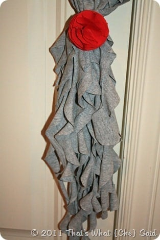DIY Ruffle шарф