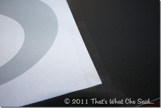 Vinyl Monogram Frame