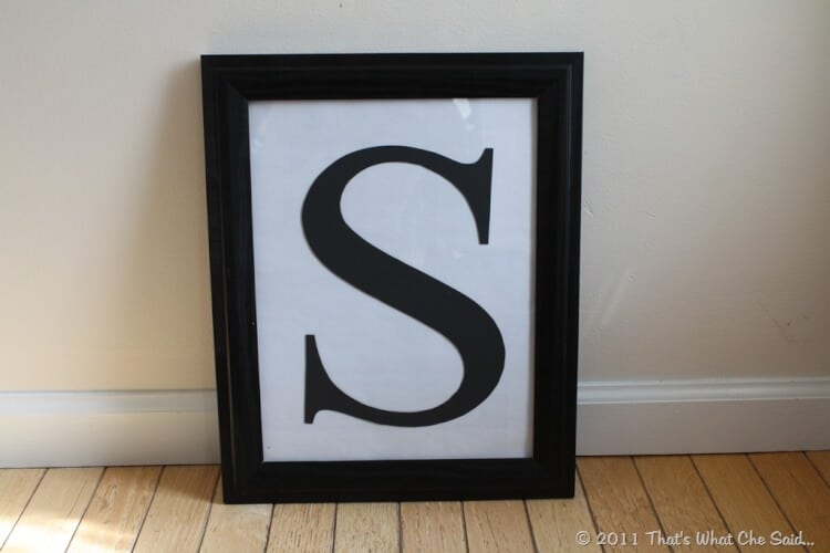 vinyl monogram frame - Monogram Picture Frame