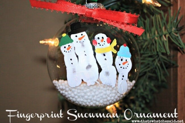 fingerprint snowmen ornaments fingerprint snowman ornament that s what che said 2019