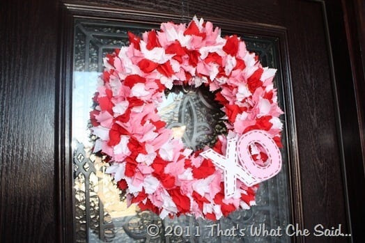 Fabric Valentine's Day Wreath
