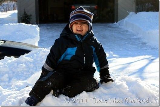 Snow Mound in MN 2010