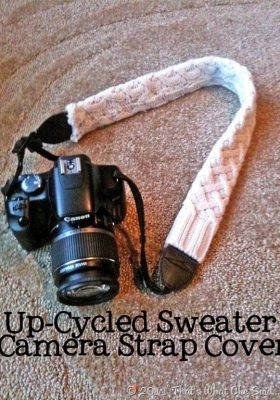 Camera Strap made from an old sweater sleeve