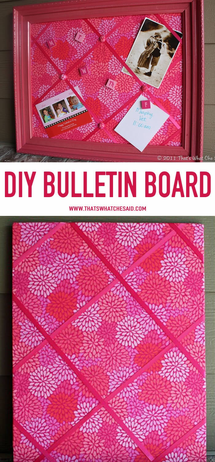 DIY Bulletin Board Tutorial at www.thatswhatchesaid.com