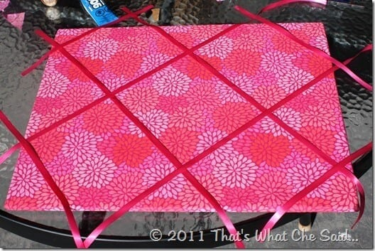 How to make a Ribbon Memo Board at thatswhatchesaid.com