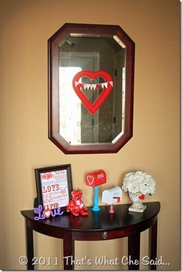 Valentine's Day Make Shift Mantle