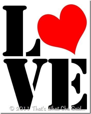 LOVE 8 X 10