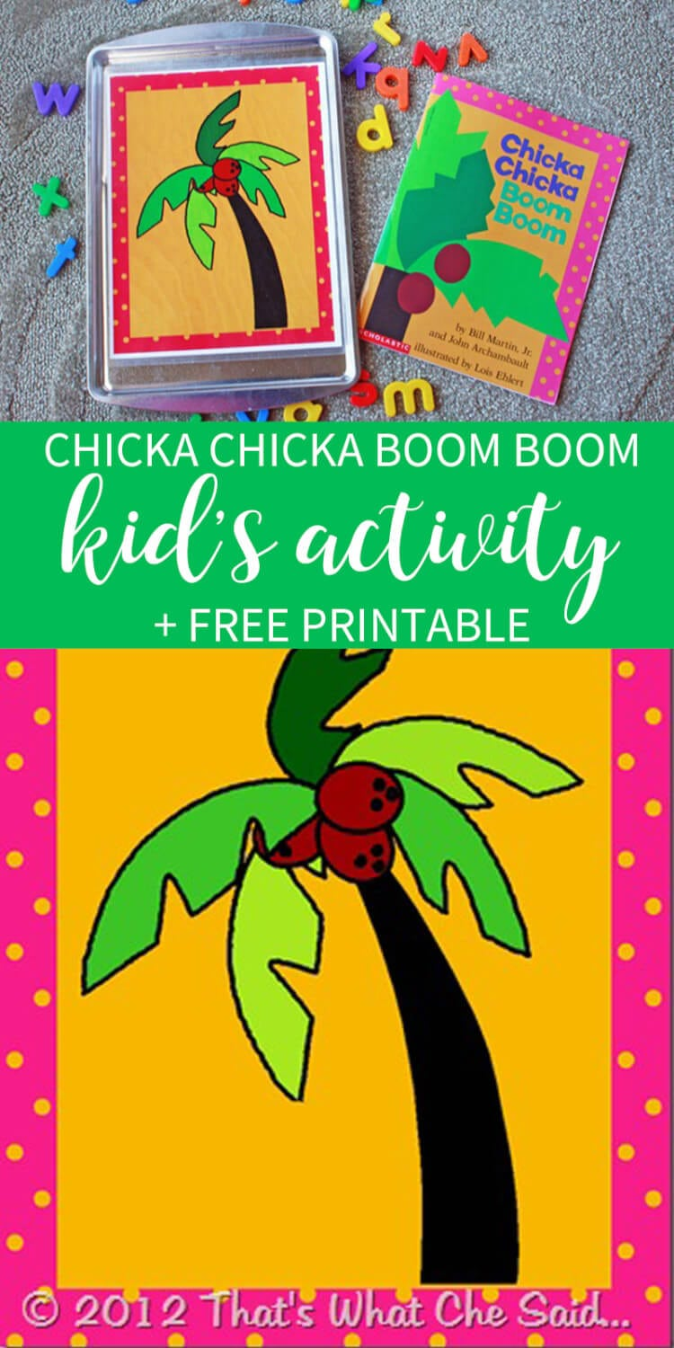 picture regarding Chicka Chicka Boom Boom Tree Printable identify Chicka Chicka Increase Growth Sport - Thats What Che Claimed