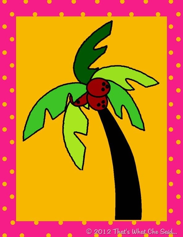 Gallery For gt Chicka Boom Coconut Tree Printable