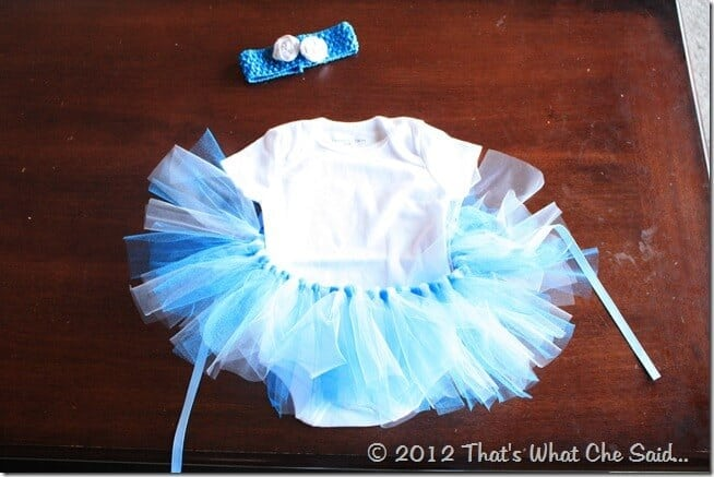 Rosette Fabric Flowers Headband and Matching Tutu