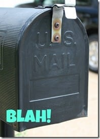 Front of Mailbox before
