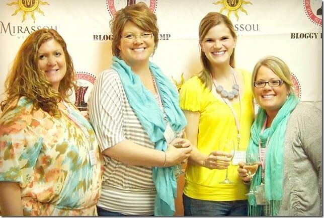 Group photo wine tasting