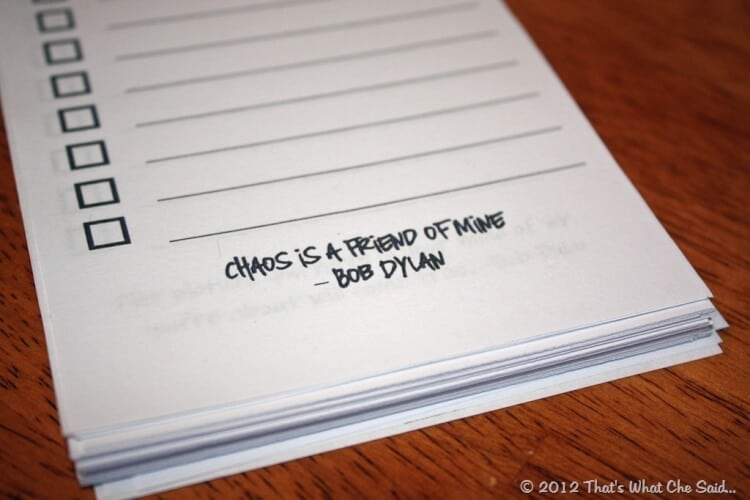 personalized to do list notepad that s what che said