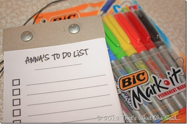 DIY Personalized To-Do List