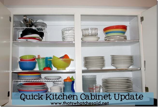 Quick Kitchen Cabinet Update