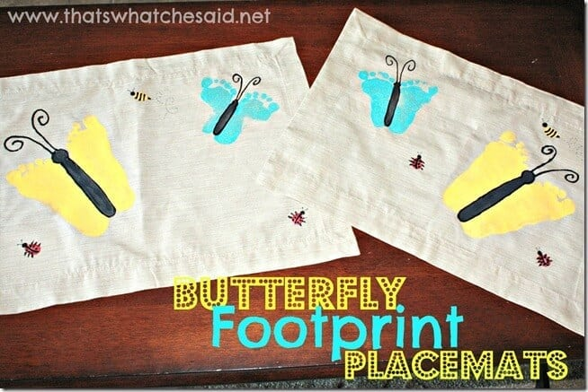 Butterfly Footprint Placemats