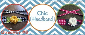 Blogiversary Giveaway #8- Chic Headband