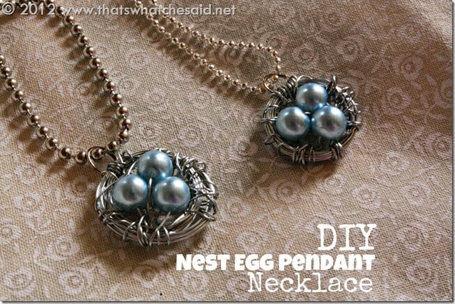DIY Nest Egg Pendant Necklace