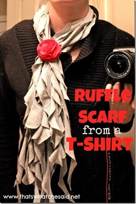 DIY T-Shirt Ruffle Scarf