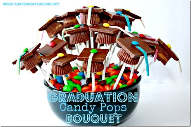 Graduation Cap Candy Pop Boquet
