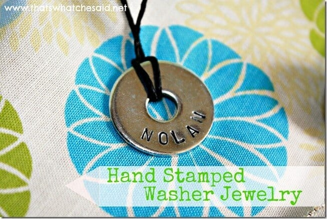 Hand Stamped Washer Jewelry