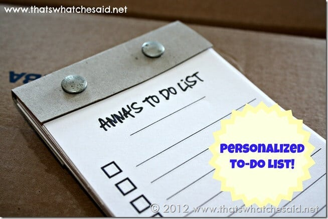 Personalized To Do List