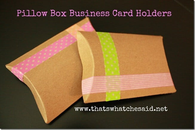 Pillow Box Business Card Holders1
