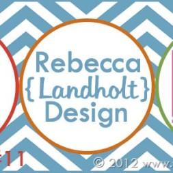Blogiversary Giveaway #11- Rebecca Landholt Graphic Design