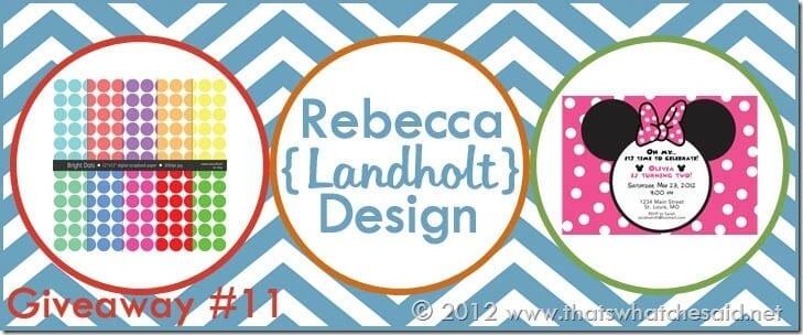Rebecca Landholt Designs Banner copy