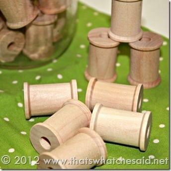 Wooden Spools square