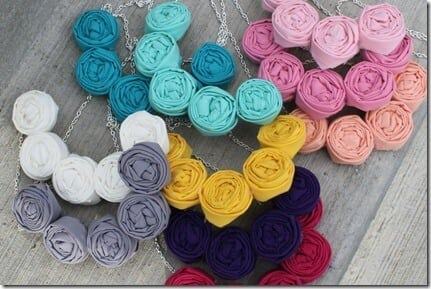 rosette necklaces
