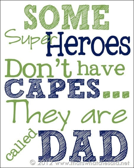 Father's Day Printable-Cape 8 x 10