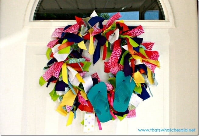 Flip Flop Fabric Wreath