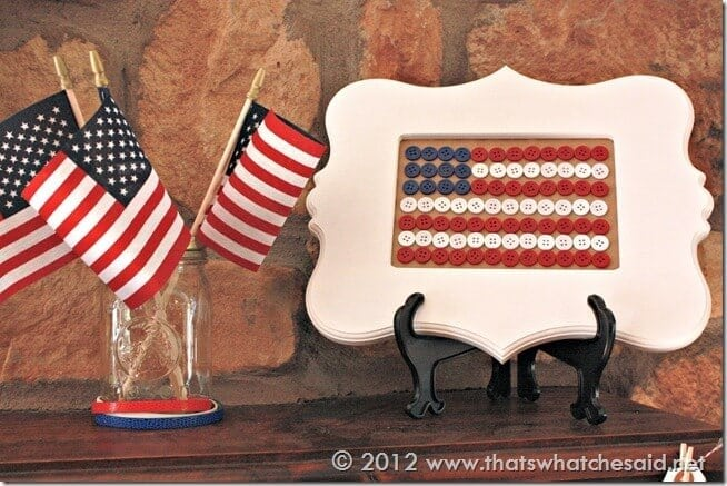 Fourth of July Mantle Left side