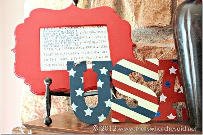 Fourth of July Mantle Right side