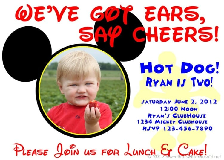 that's what {che} said | mickey mouse birthday invitations, Birthday invitations