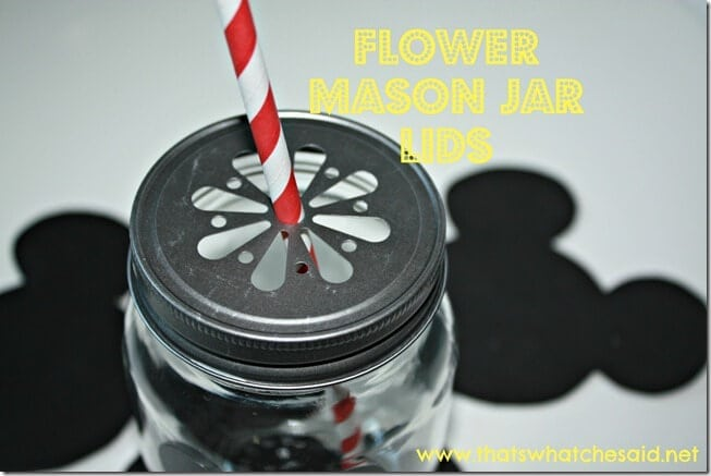 Mickey Flower Mason jar Lids