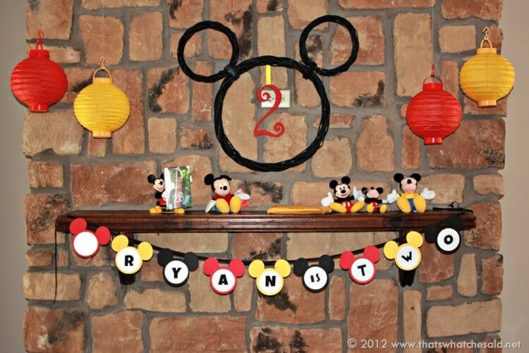 Mickey Mouse Birthday Banner Free Printable That S What Che Said